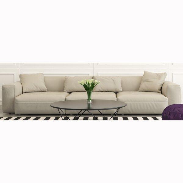 Kylah Genuine Leather 101 Square Arm Sofa