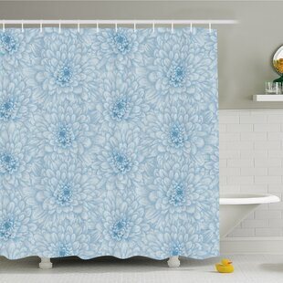 Affordable Retro Monochrome Pastel Water Cane Petals with Disc Florets Shower Curtain Set By East Urban Home