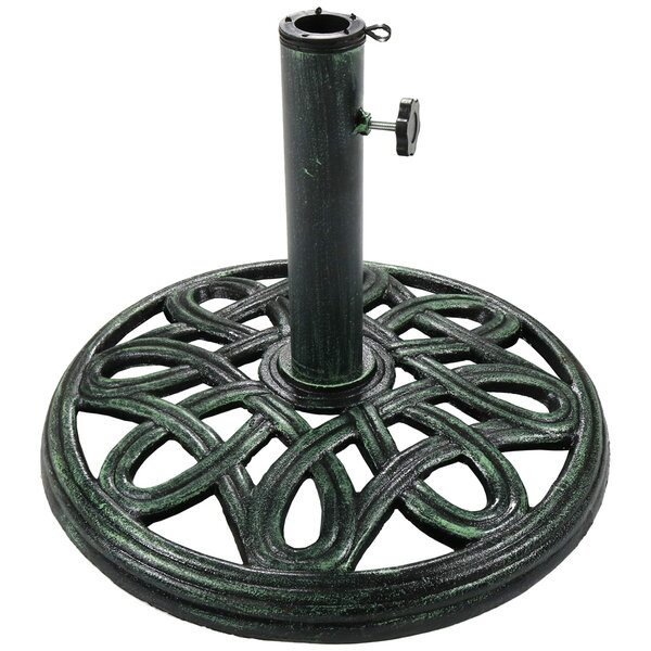 Zuma Round Cast Iron Free Standing Umbrella Base by Darby Home Co