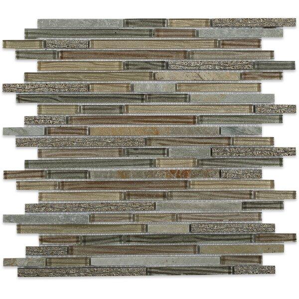 Paradise Random Sized Mixed Material Mosaic Tile in Genosha by Splashback Tile