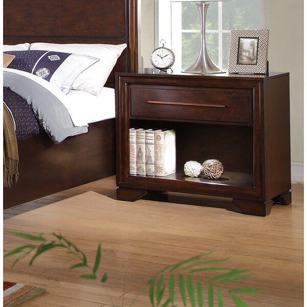 Kostya 1 Drawer Nightstand by Charlton Home
