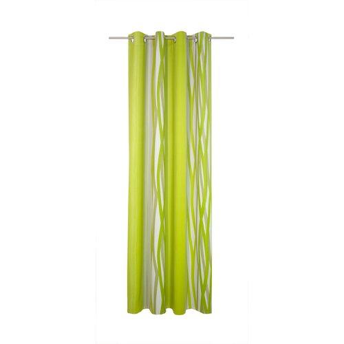 Brecken Eyelet Blackout Thermal Single Curtain Corrigan Studio Colour: Green, Size: 245cm H x 145cm W