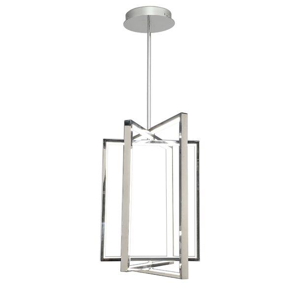 Anzell 1 - Light Lantern Rectangle Chandelier by Orren Ellis Orren Ellis