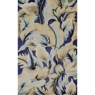 Rowan Blue Calla Lillies Area Rug