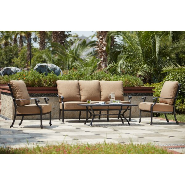 Waconia 4 Piece Sofa Set with Cushions by Darby Home Co