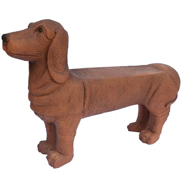 Seawright Dog Cold Cast Stone Garden Bench by Red Barrel Studio Red Barrel Studio