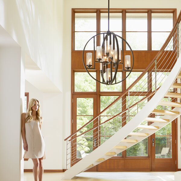 Goodrow 10 - Light Shaded Globe Chandelier by Ivy Bronx Ivy Bronx
