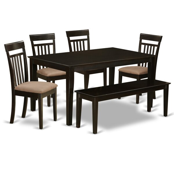 Capri 6 Piece Dining Set by East West Furniture
