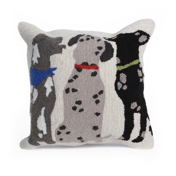 Mcmillan Three Dogs Indoor/Outdoor Throw Pillow