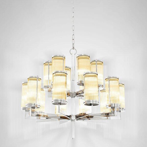 Claridges 16 - Light Shaded Tiered Chandelier by Eichholtz Eichholtz
