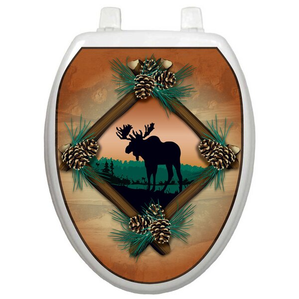 Themes Moose At Sunset Toilet Seat Decal by Toilet Tattoos