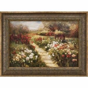 My Neighbor's Meadow Framed Painting Print by Ashton Wall Décor LLC