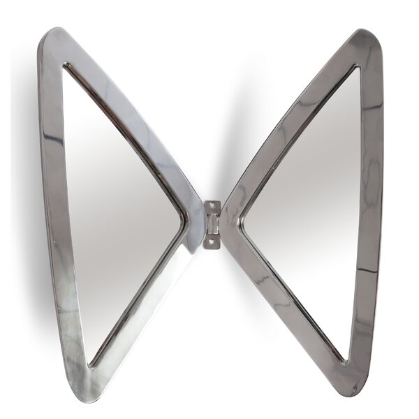 Frates Butterfly Stainless Steel Wall Mounted Wall Mirror by Ivy Bronx