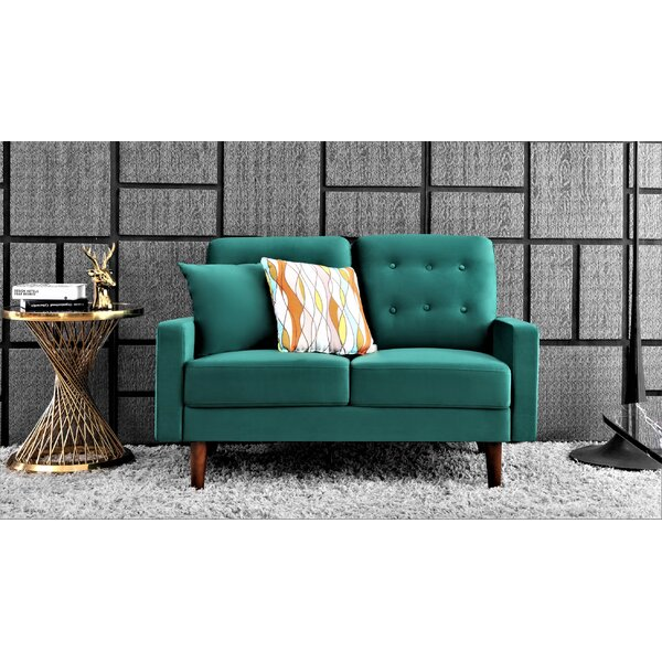Emmet Velvet 50.4'' Square Arm Loveseat By Corrigan Studio®