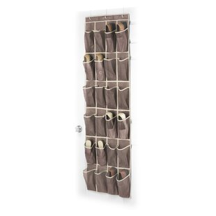 Budget 24-Pocket 12 Pair Overdoor Shoe Organizer (Set of 6) By Whitmor, Inc
