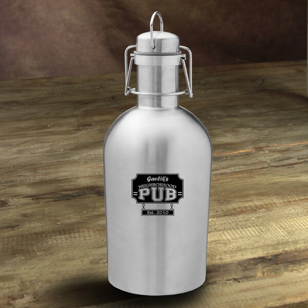 Neighborhood Pub Personalized 64 oz. Stainless Steel Growler by JDS Personalized Gifts