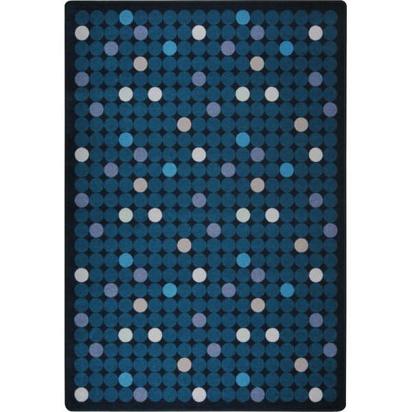 Hand-Tufled Blue Kids Rug by The Conestoga Trading Co.