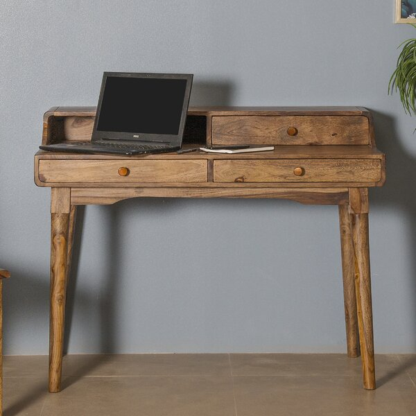 Glenmore 3 Drawer Writing Desk by Foundry Select