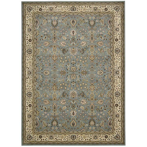 Antiquities Royal Countryside Slate/Blue Area Rug by Kathy Ireland Home