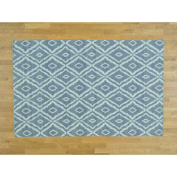 One-of-a-Kind Booth Reversible Handmade Kilim Grey Wool Area Rug by Isabelline