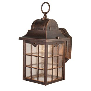 Buy luxury Flannigan 1-Light Outdoor Wall lantern By Charlton Home