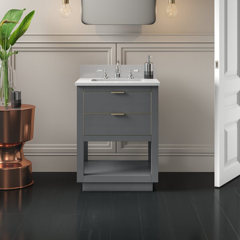 24 Bathroom Vanity | Wilbanks 24 Single Bathroom Vanity Set