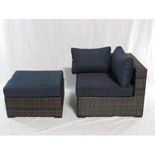 Beau Dillman Corner Chair With Ottoman