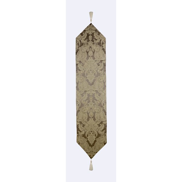 Gabi Brown and Cream Floral Table Runner by Astoria Grand