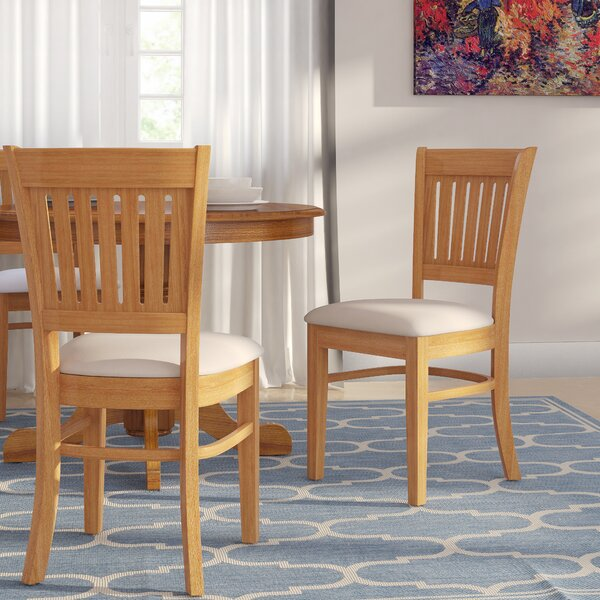 Corcoran Upholstered Slat Back Side Chair (Set Of 2) By Alcott Hill