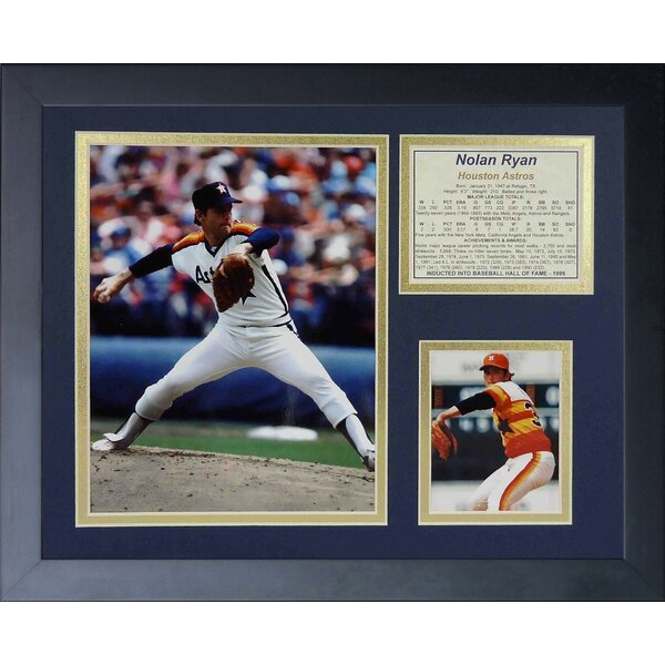 Nolan Ryan Astros Framed Memorabilia by Legends Never Die