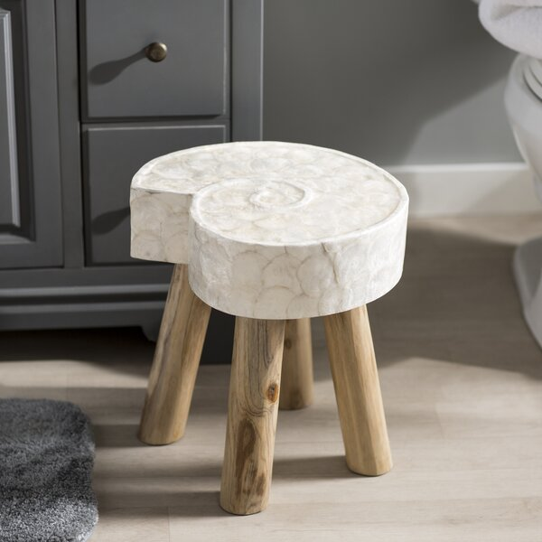 Yesha Accent Stool by Highland Dunes