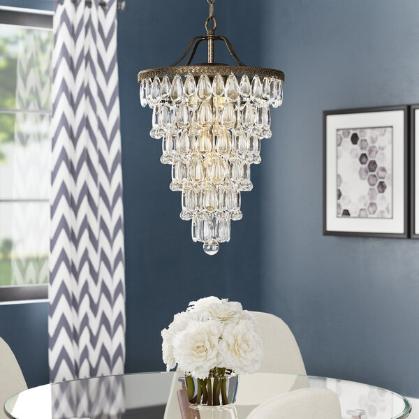 Totnes 4-Light Unique/Statement Tiered Chandelier with Crystal Accents by House of Hampton House of Hampton