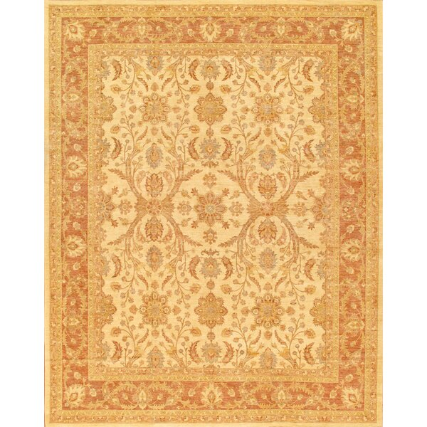 Ferehan Hand-Knotted Beige Area Rug by Pasargad