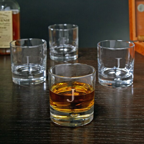 Bryne Personalized 10.5 oz. Double Whiskey Glass (Set of 4) by Home Wet Bar