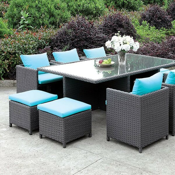 Koda 11 Piece Dining Set with Cushions by Latitude Run