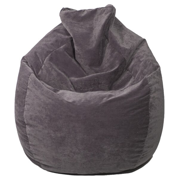 Teardrop Microfiber Suede Corduroy Bean Bag Chair by Gold Medal Bean Bags