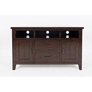 Hicks Transitional Wooden Media Console Table