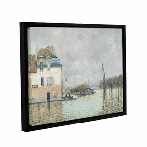The Flood at Port-Marly, 1876 2 Framed Painting Print on Wrapped Canvas by Alcott Hill