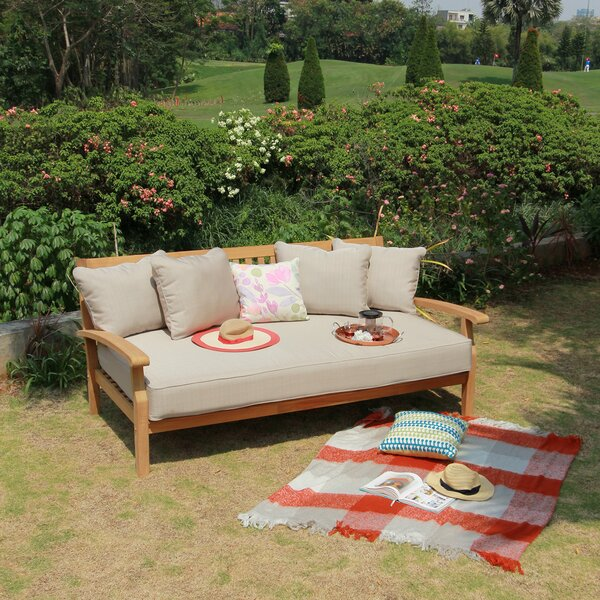 Summerton Teak Patio Daybed With Cushion By Birch Lane™ Heritage