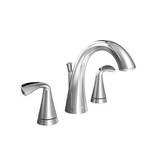 Low priced Fluent Widespread Bathroom Faucet with Drain Assembly By American Standard