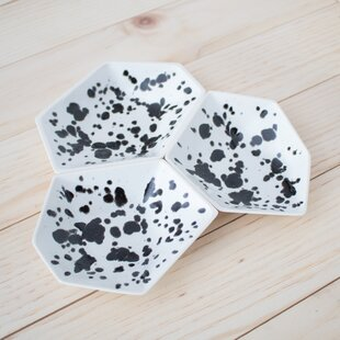 Find the perfect 3 Piece Large Geometric Ring Dish Set in Ink Spot ByClarke Collective