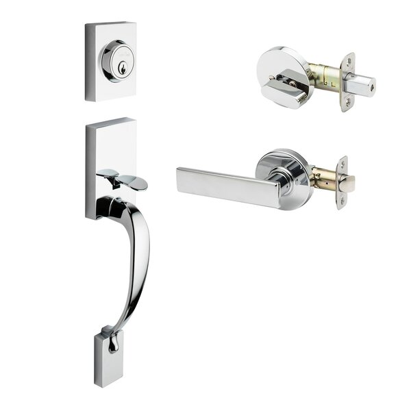 Rustic Modern Style Active Handleset with Remi Lever Interior Trim by Copper Creek