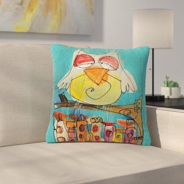 Carina Povarchik Urban Owl Kids Outdoor Throw Pillow by East Urban Home