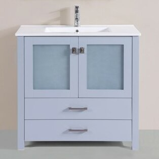Lapp Modern 35 Single Bathroom Vanity Set by Latitude Run
