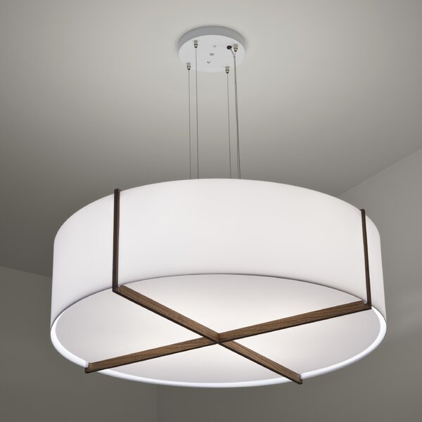 Plura 2-Light Unique / Statement Drum Chandelier By Cerno