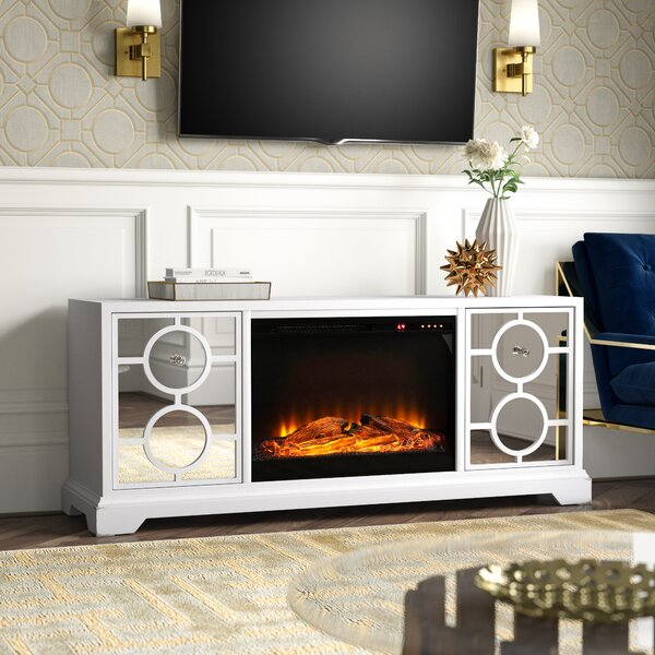 Review Mcneal Solid Wood TV Stand For TVs Up To 70