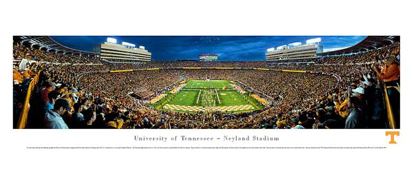 NCAA University of Tennessee - Power T Photographic Print by Blakeway Worldwide Panoramas, Inc