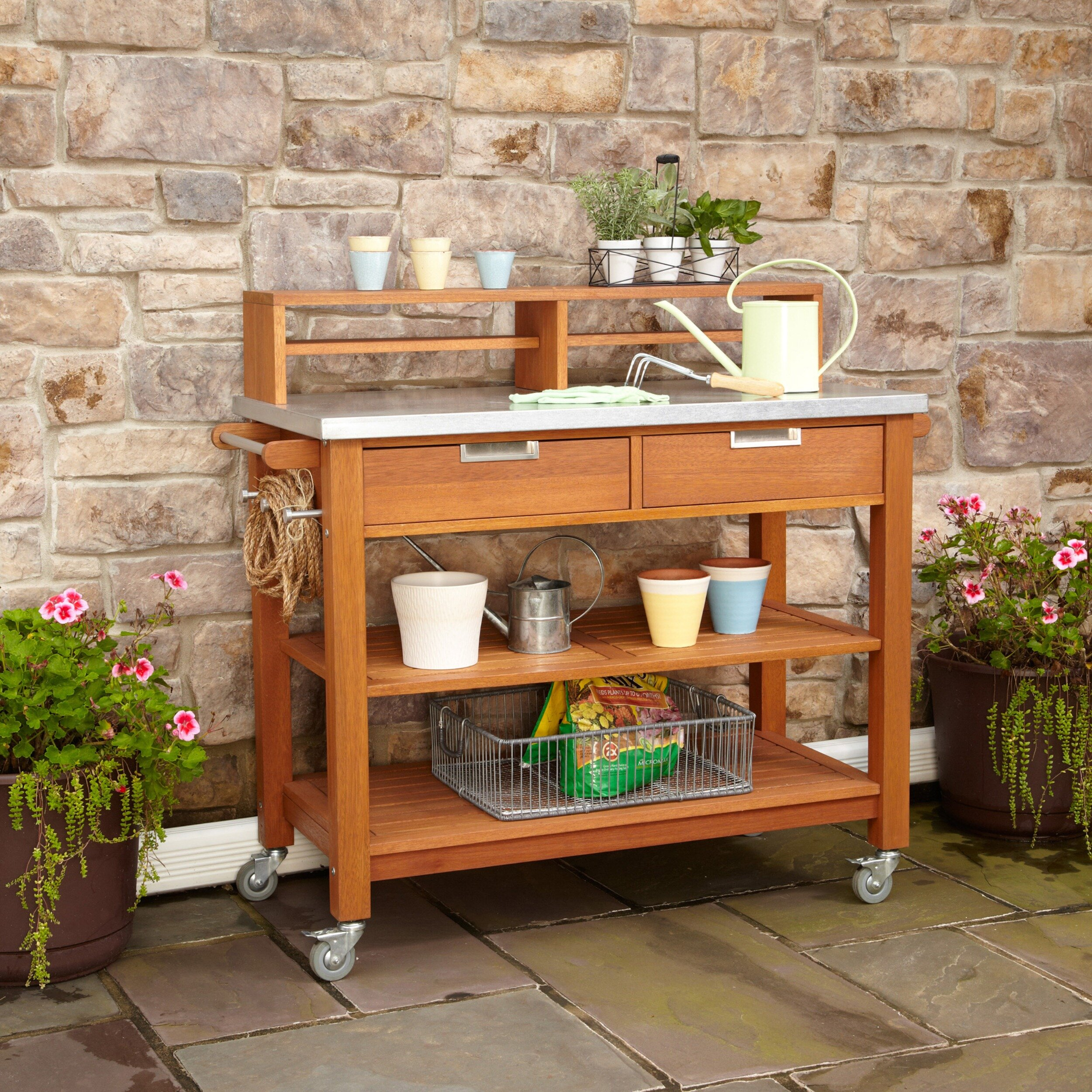 img urbanamericana decor rustic products potting outdoor table plant collections