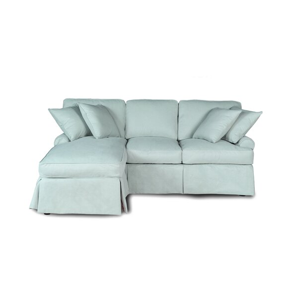 Huguley Slipcovered Reversible Sleeper Sectional by Symple Stuff