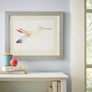 Watercolor Hummingbird Framed Print I by Birch Lane Kids™